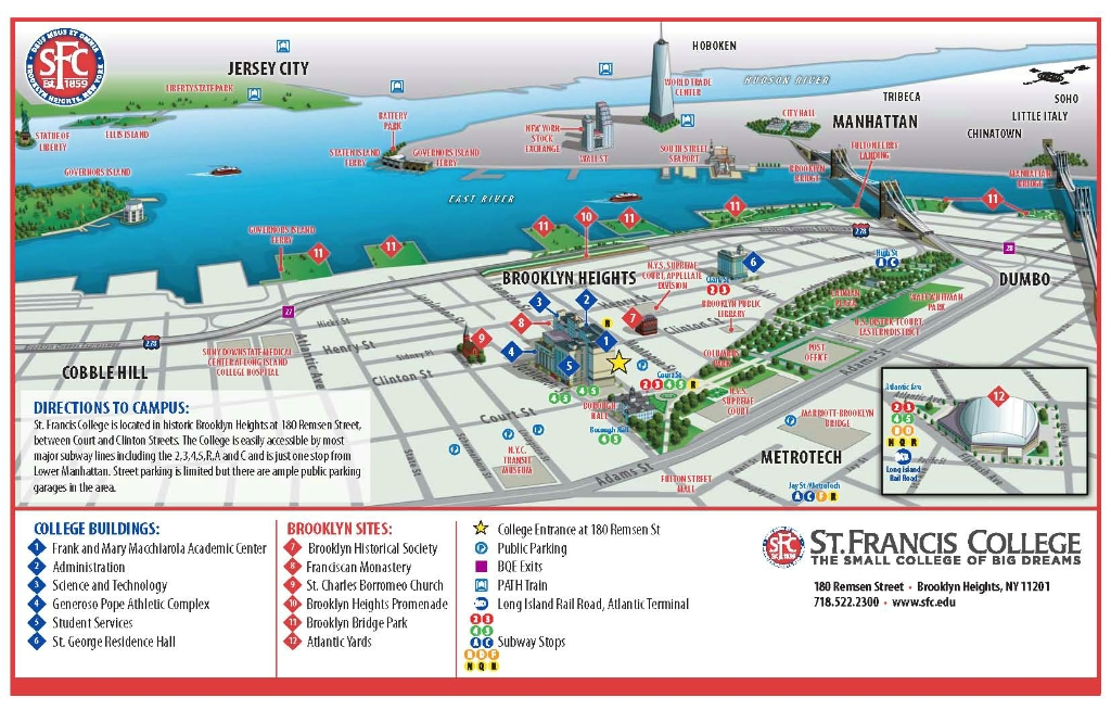 Franciscan University Campus Map.Directions To Home Facilities St Francis Brooklyn Athletics
