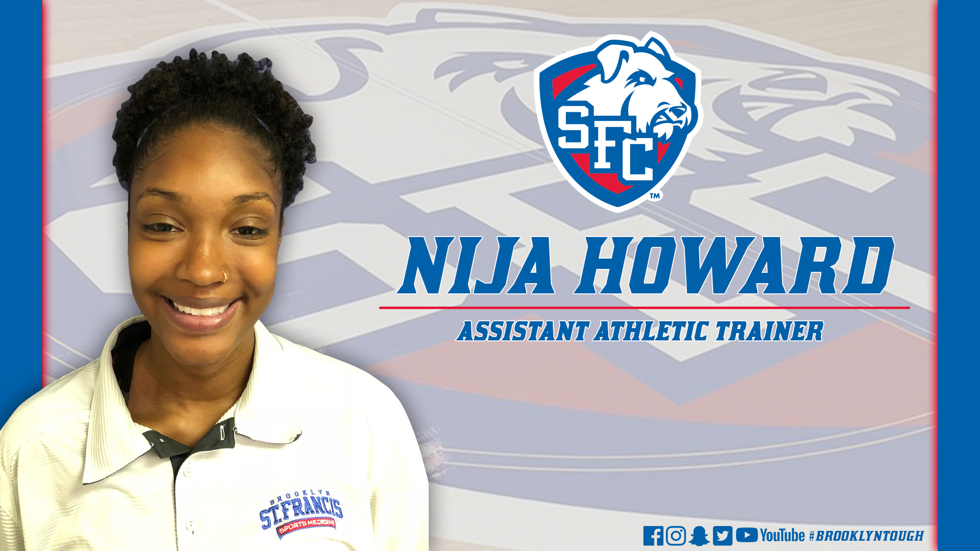 Nija Howard Named Assistant Athletic Trainer - St  Francis